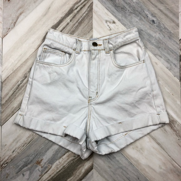 American Apparel Pants - American Apparel High Waisted Jean Shorts Size 26
